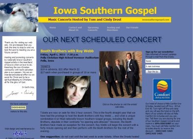 Iowa Southern Gospel Concerts